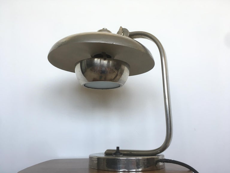- Czechoslovakia, 1930s - Original condition, patina - New electricity - Adjustable.