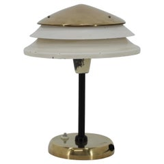 Design Brass Table Lamp by Zukov, Czechoslovakia, 1950s