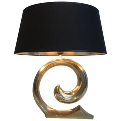 Design Brass Table Lamp, French, circa 1970
