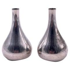 Design by Jens Quistgaard for Dansk Pair of Teardrop Candleholders