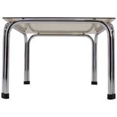 Design Chrome Coffee/Side Table by Viliam Chlebo, Czechoslovakia, 1980s