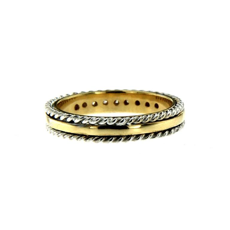 Contemporary Design Diamond Wedding Band Ring For Sale