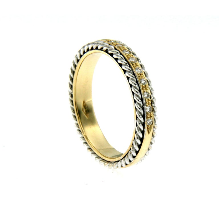 Design Diamond Wedding Band Ring In New Condition For Sale In Napoli, Italy