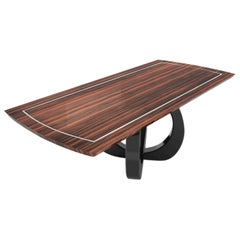 Design Dining Table with Curved Foot