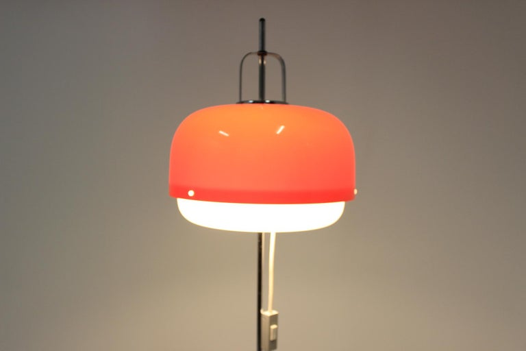 Chrome Design Floor Lamp / Harvey Guzzini / Meblo, 1970s For Sale