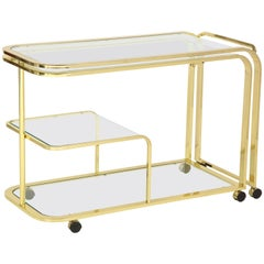 Design Institute of America Milo Baughman Style Expanding Bar/ Serving Cart