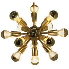 Design Midcentury Brass Pendant, Sputnik, 1970s