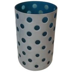 Design Overlay Glass Vase, Italy, circa 1970