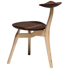 Design Philip Von Hase Ergonomic Sitting Sculpture Chair Oak and Walnut