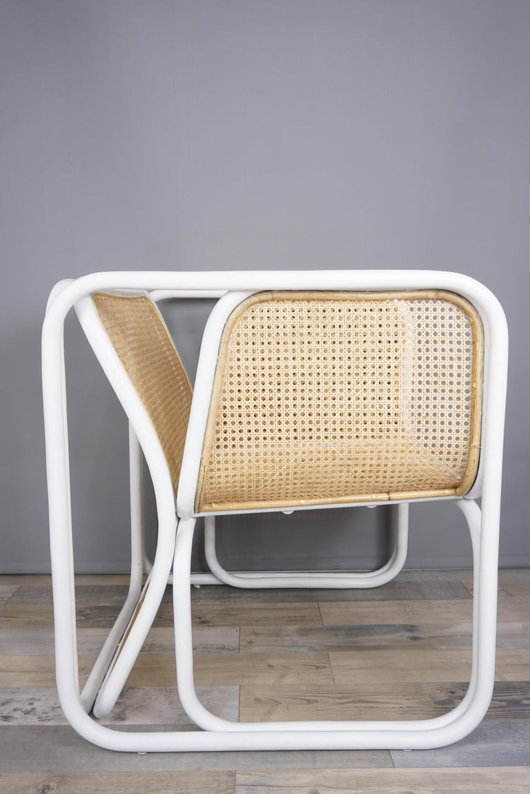 Design Rattan and Wicker Armchair For Sale 4