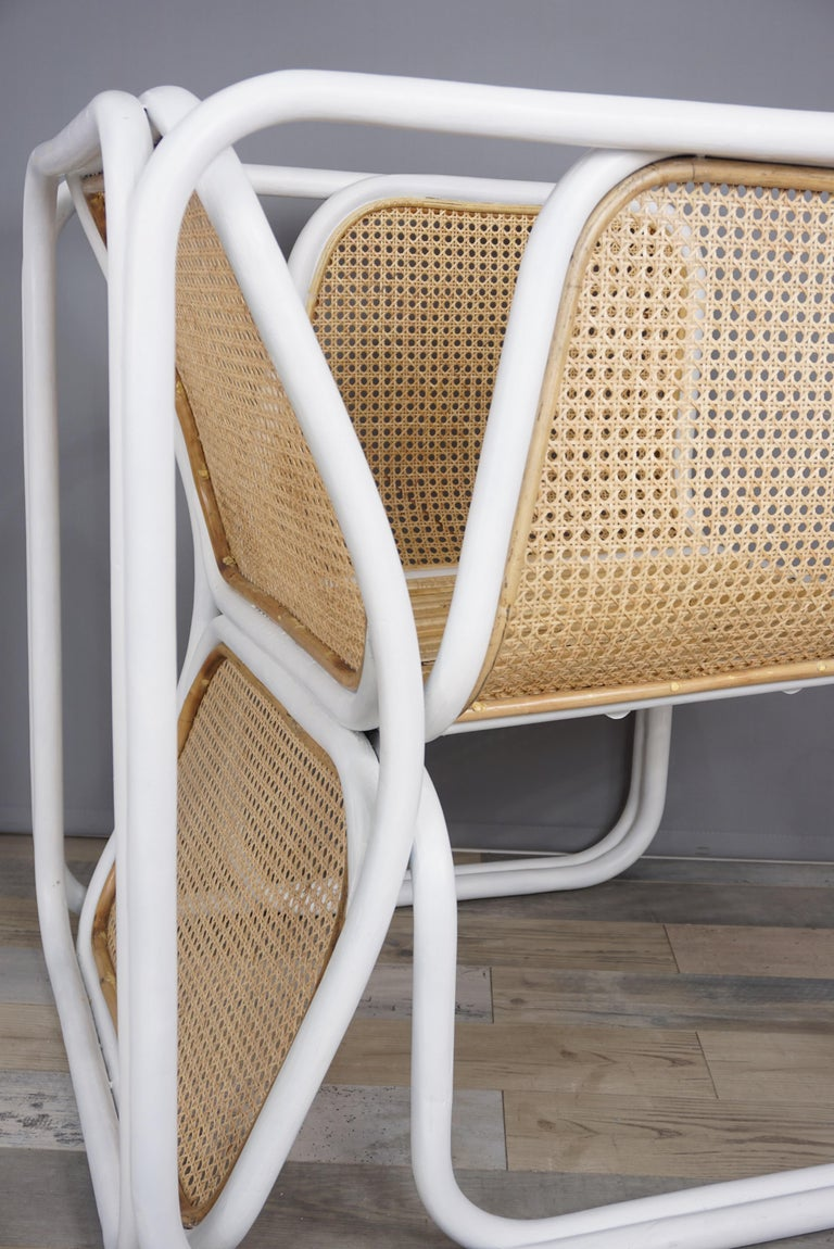 Design Rattan and Wicker Armchair For Sale 5
