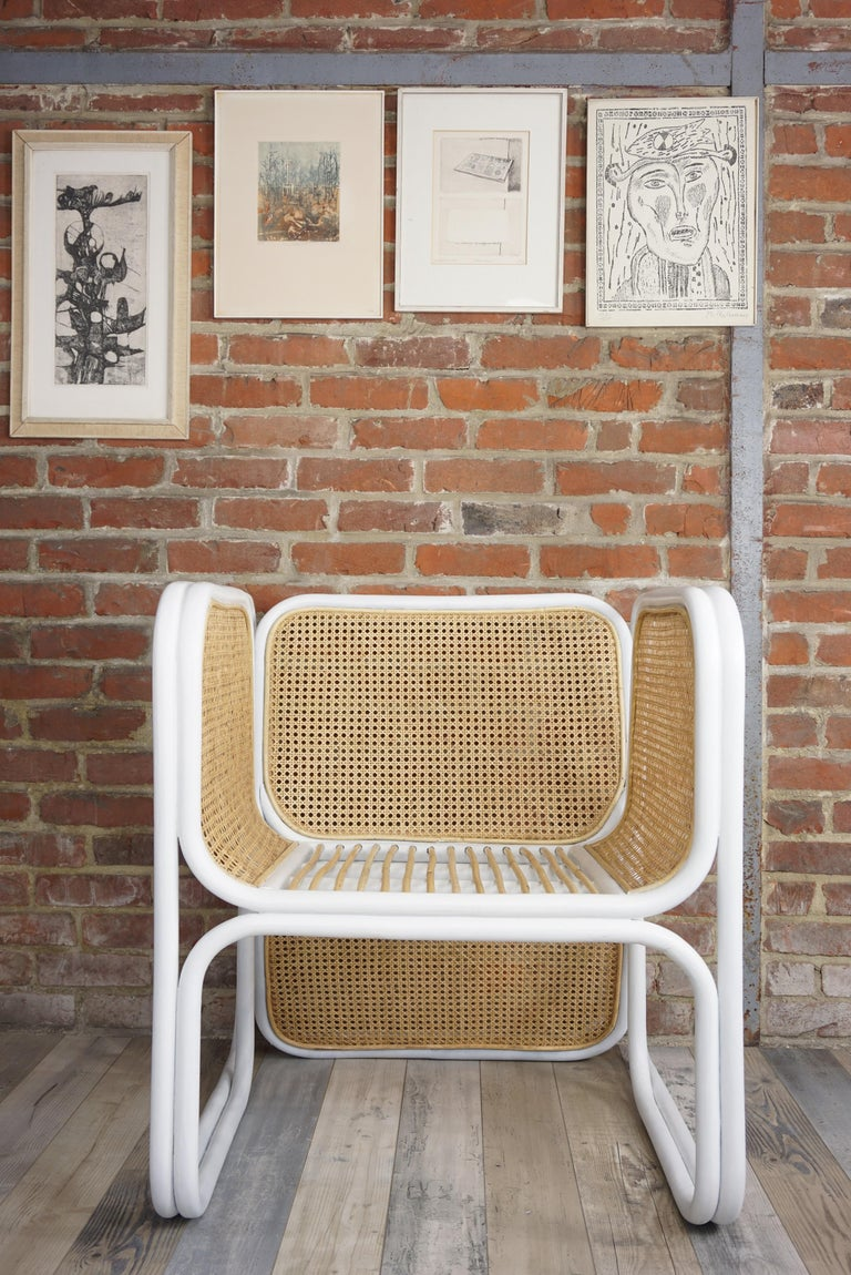 Design Rattan and Wicker Armchair For Sale 6