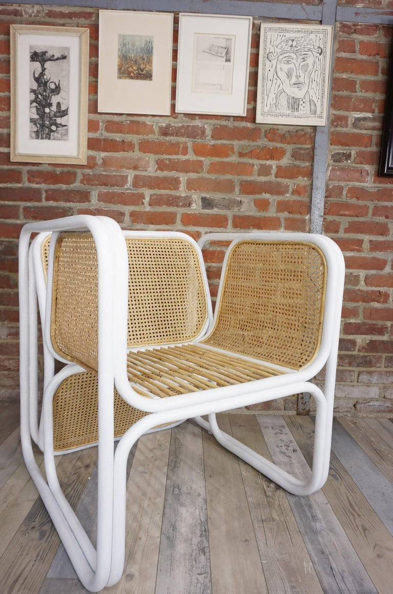 Design Rattan and Wicker Armchair For Sale 7
