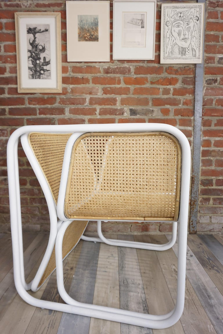 Design Rattan and Wicker Armchair For Sale 8