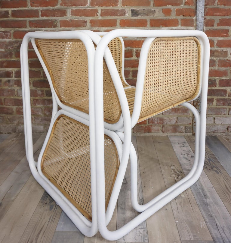 Design Rattan and Wicker Armchair For Sale 9