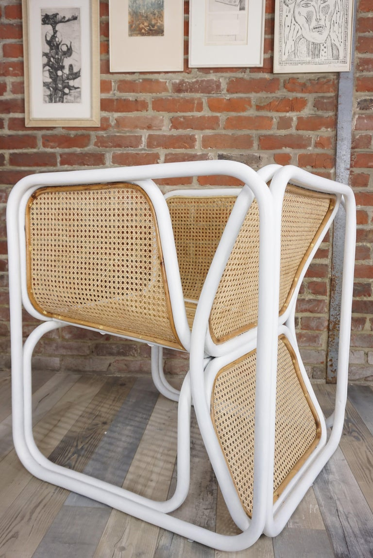 Design Rattan and Wicker Armchair For Sale 10