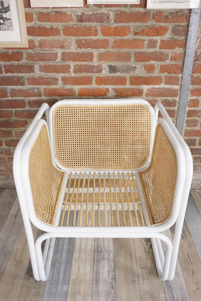 Design Rattan and Wicker Armchair For Sale 11