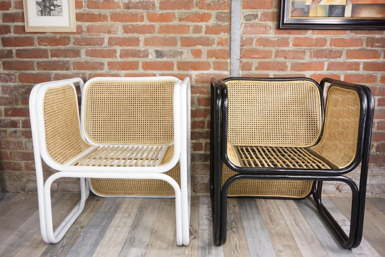 Design Rattan and Wicker Armchair For Sale 12