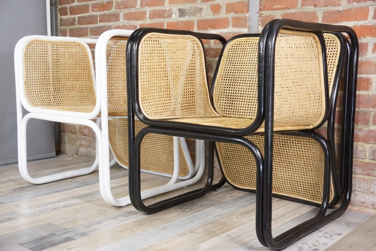 Design Rattan and Wicker Armchair For Sale 13
