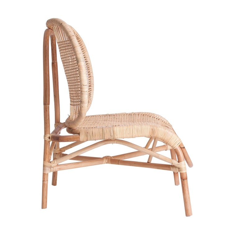 Mid-Century Modern Design Rattan and Wicker Armchair For Sale