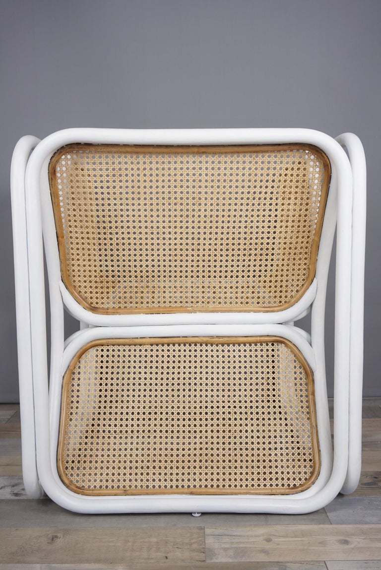 Contemporary Design Rattan and Wicker Armchair For Sale