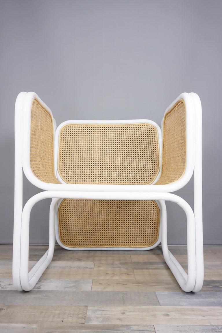 Design Rattan and Wicker Armchair For Sale 1