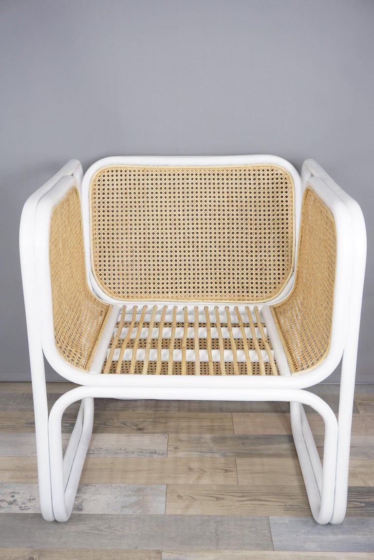 Design Rattan and Wicker Armchair For Sale 2