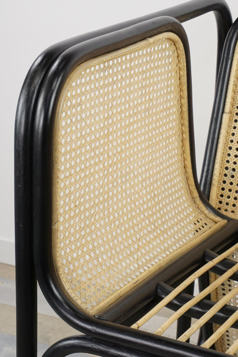 Design Rattan and Wicker Dining Armchair For Sale 5