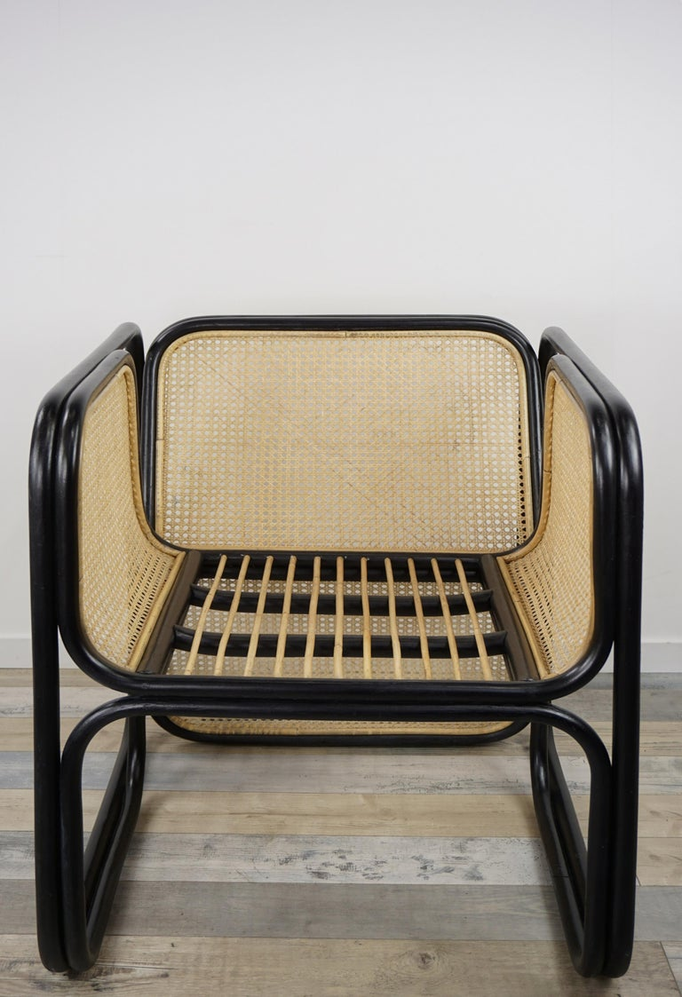 Design Rattan and Wicker Dining Armchair For Sale 1
