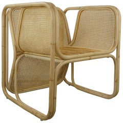 Design Rattan Wicker and Cane Armchair