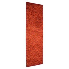Design Red Wool Carpet / Rug, 1960s