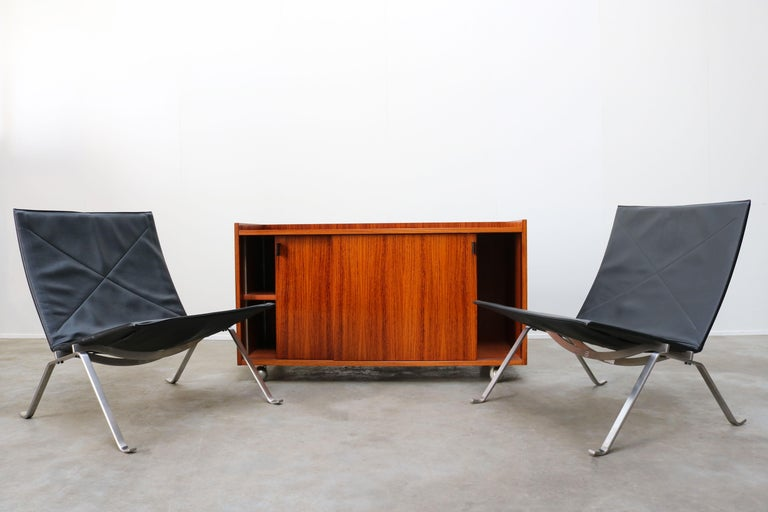 Design Sideboard / Cabinet by Florence Knoll for De Coene Leather Rosewood 1960 For Sale 6