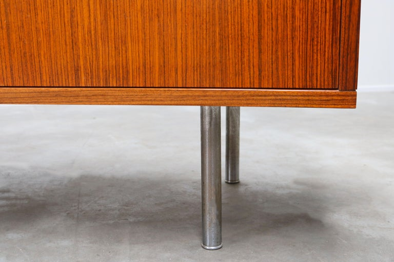 Design Sideboard / Credenza by Alfred Hendrickx for Belform Chrome Minimalist For Sale 5