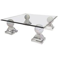 Design Sofatisch aus Marmor und Glas