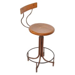 Design Stool Adjustable in Height Italian Production of the 40s