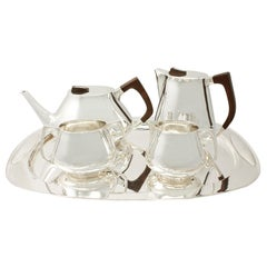 Design Style Sterling Silver Tea and Coffee Service with Tray