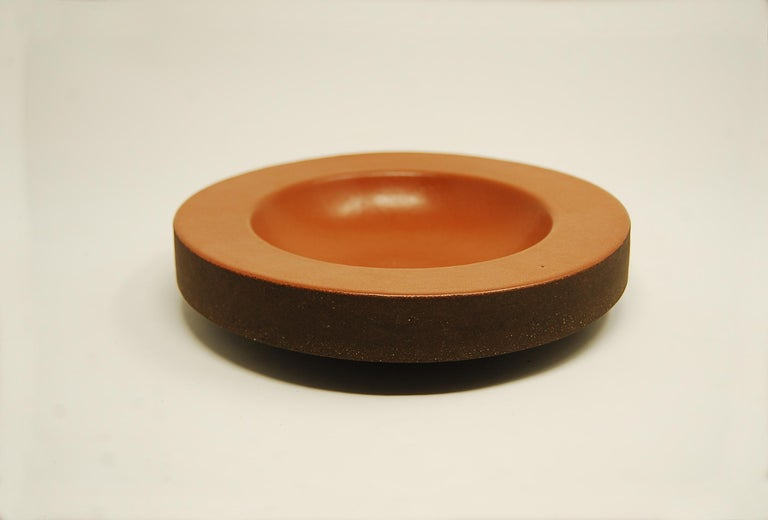 Design Technics Low Pottery Bowl In Good Condition For Sale In Providence, RI