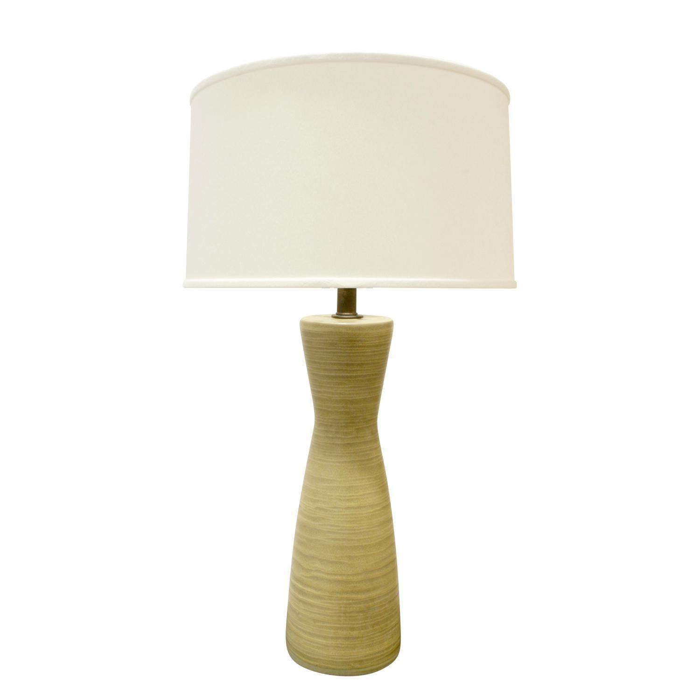 Design Technics Pale Green Ceramic Table Lamp, 1960s