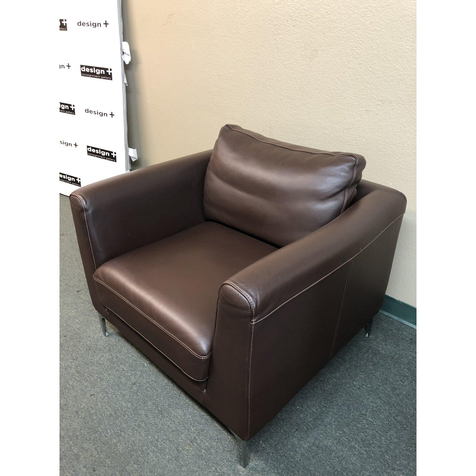 Remarkable Design Within Reach Nicoletti Brown Leather Armchair For Ncnpc Chair Design For Home Ncnpcorg