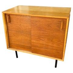 DesignCraft 2-Door Birch and Walnut Cabinet