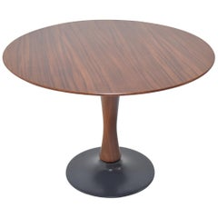 Designed Beech Round Dining Table, 1970s