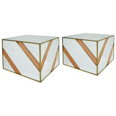 Designed by L.A. Studio Mid-Century Modern Style Pair of Italian Coffee Tables