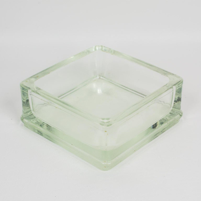 Mid-20th Century Designed by Le Corbusier for Lumax Molded Glass Desk Accessory Ashtray Catchall For Sale