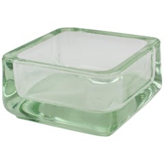 Designed by Le Corbusier for Lumax Molded Glass Desk Accessory Ashtray Catchall