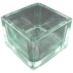 Designed by Le Corbusier for Lumax Molded Glass Desk Accessory Cigar Ashtray