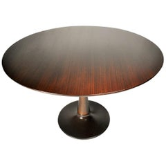 Designed Mahogany Round Dining Table, 1969
