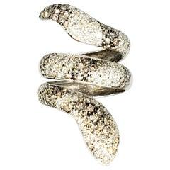 Designer 3 Carat Diamonds Rattlesnake Ring 18 Karat