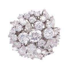 Designer 4.50 Carat Diamond Gubelin Cocktail Ring Estate Fine Jewelry