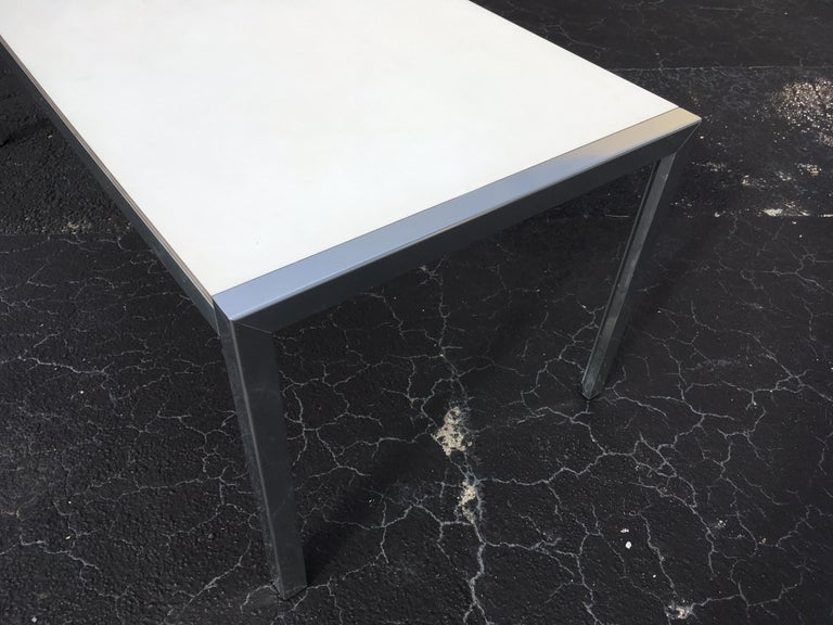 Designer Aluminum Dining Table or Desk, Great Quality, 1970s For Sale 6