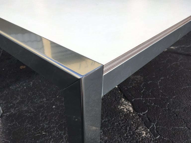 Designer Aluminum Dining Table or Desk, Great Quality, 1970s For Sale 7